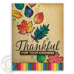 Sunny Studio Stamps Elegant Leaves Fall Card by Mendi Yoshikawa
