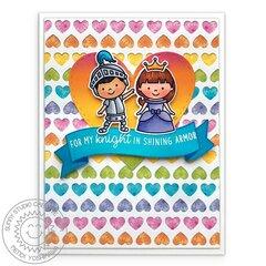 Sunny Studio Enchanted Princess Card by Mendi Yoshikawa