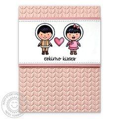 Sunny Studio Stamps Eskimo Kisses Card by Mendi Yoshikawa