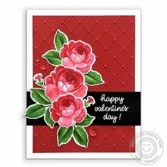 Sunny Studio Everything's Rosy Rose Card by Mendi Yoshikawa
