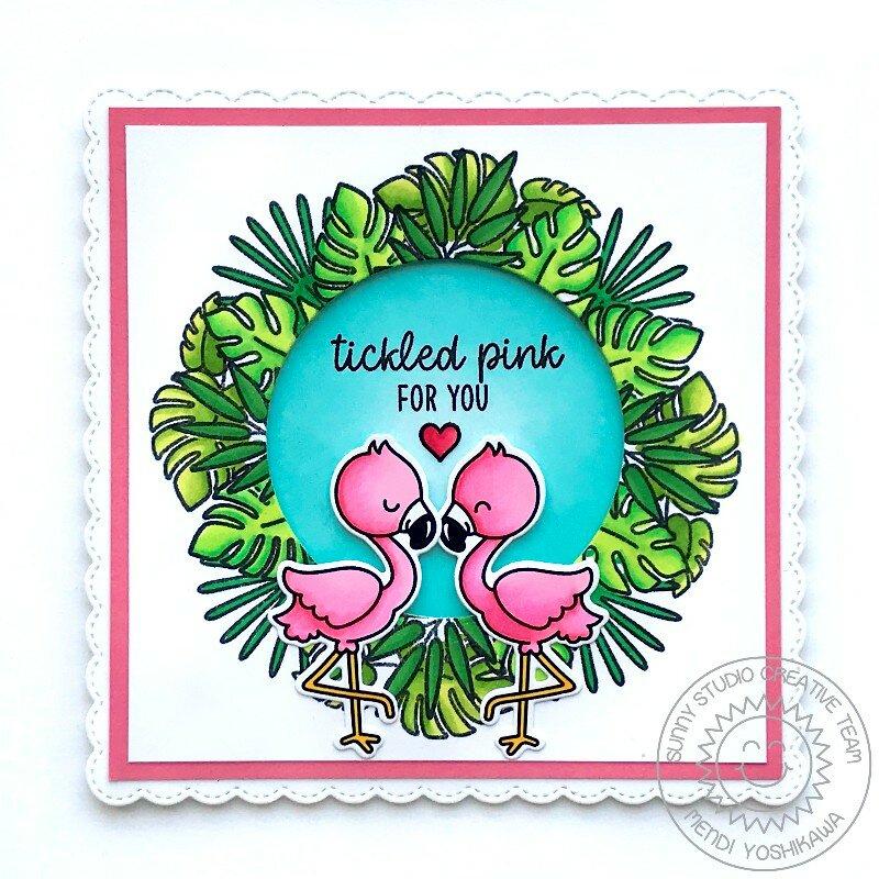 Sunny Studio Stamps Fabulous Flamingos Card by Mendi Yoshikawa
