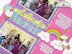 Doodlebug Fairy Tales Girls Birthday Layout by Mendi Yoshikawa