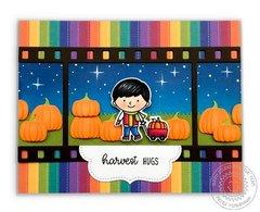 Sunny Studio Harvest Hugs Pumpkin Patch Card by Mendi Yoshikawa