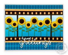 Sunny Studio Fall Sunflower Card by Mendi Yoshikawa