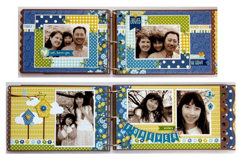 Pebbles Inc. Family Ties Mini Album by Mendi Yoshikawa