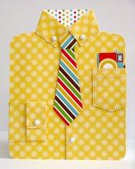 Doodlebug Day To Day Dress Shirt Card by Mendi Yoshikawa