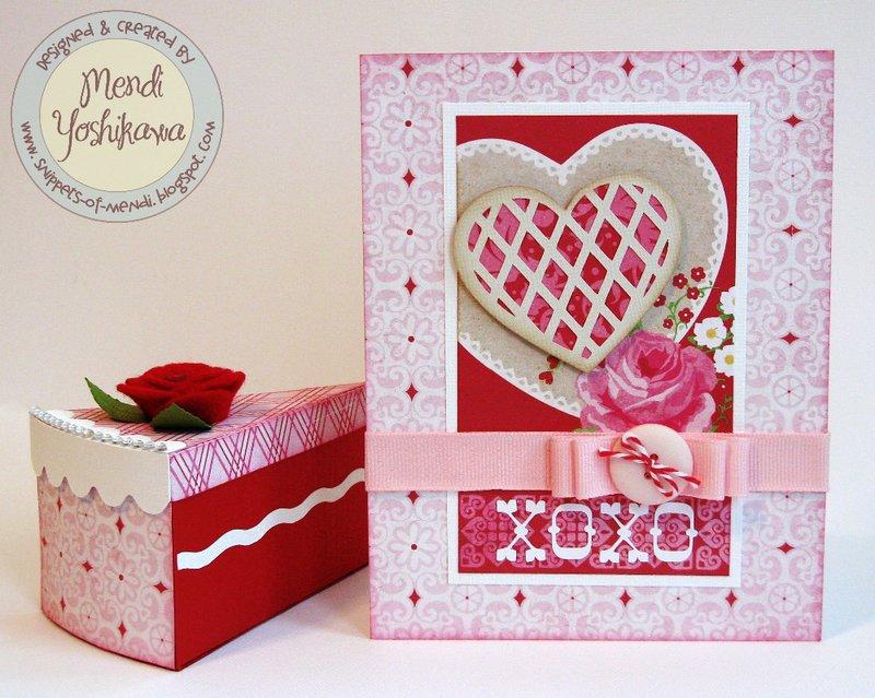 Echo Park Love Story Card & Treat Box by Mendi Yoshikawa
