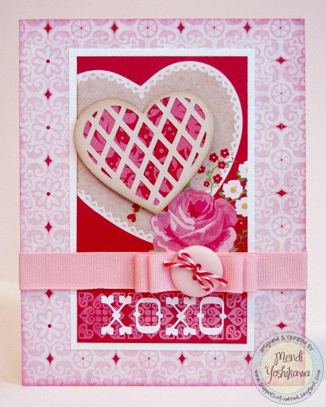 An Echo Park Love Story Card & Treat Box