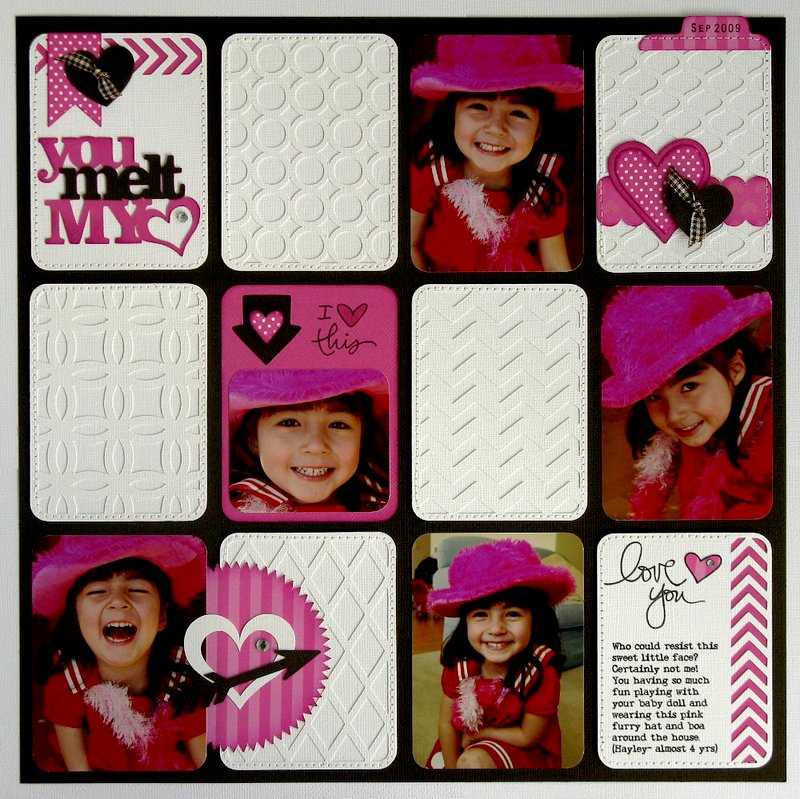 """You Melt My Heart"" Project Life Layout by Mendi Yoshikawa"