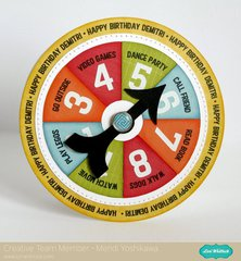 Lori Whitlock Game Spinner Birthday Card by Mendi Yoshikawa