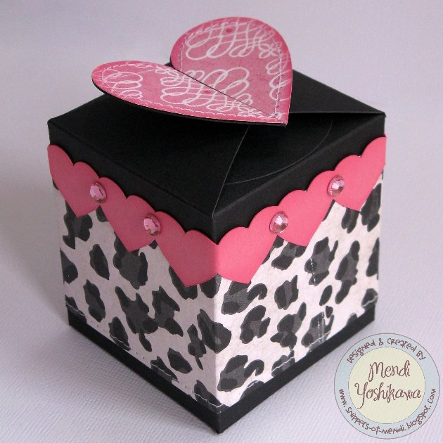An Echo Park Love Story Valentine Card & Treat Box