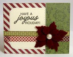 Teresa Collins Christmas Cottage Card by Mendi Yoshikawa