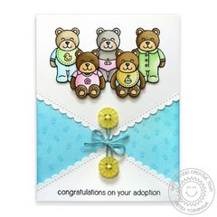 Baby Bear & Fishtail Banners II Card by Mendi Yoshikawa