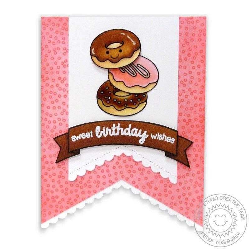 Sweet Shoppe & Fishtail Banners II Card by Mendi Yoshikawa