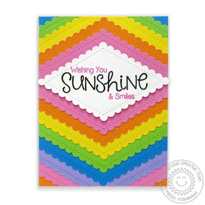 Rainbow Fishtail Banners II Card by Mendi Yoshikawa