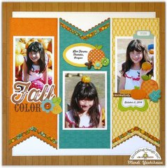 Doodlebug Flea Market Fall Layout by Mendi Yoshikawa