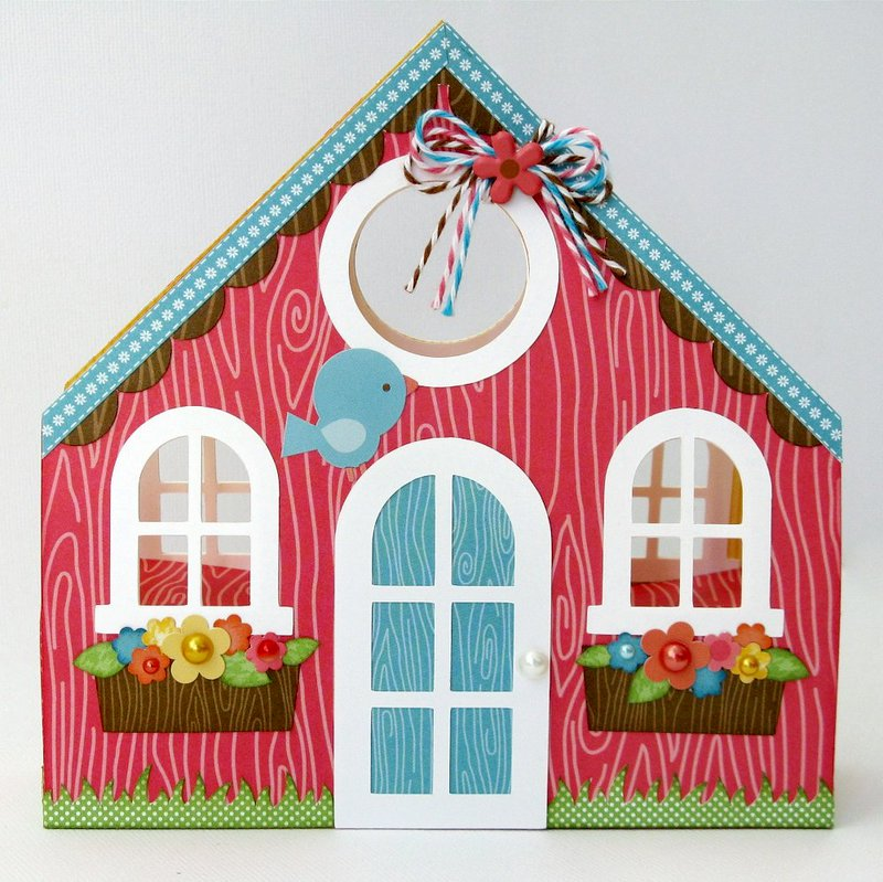 A Doodlebug Flower Box Gift Bag by Mendi Yoshikawa