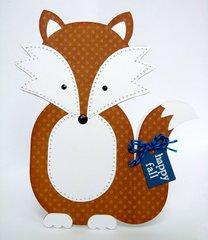 A Fall Fox Shaped Card by Mendi Yoshikawa