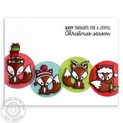 Sunny Studio Stamps Foxy Christmas Fox Card by Mendi Yoshikawa