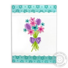 Sunny Studio Friends & Family Flower Bouquet Card by Mendi