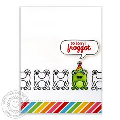 Sunny Studio Froggy Friends Birthday Card by Mendi Yoshikawa