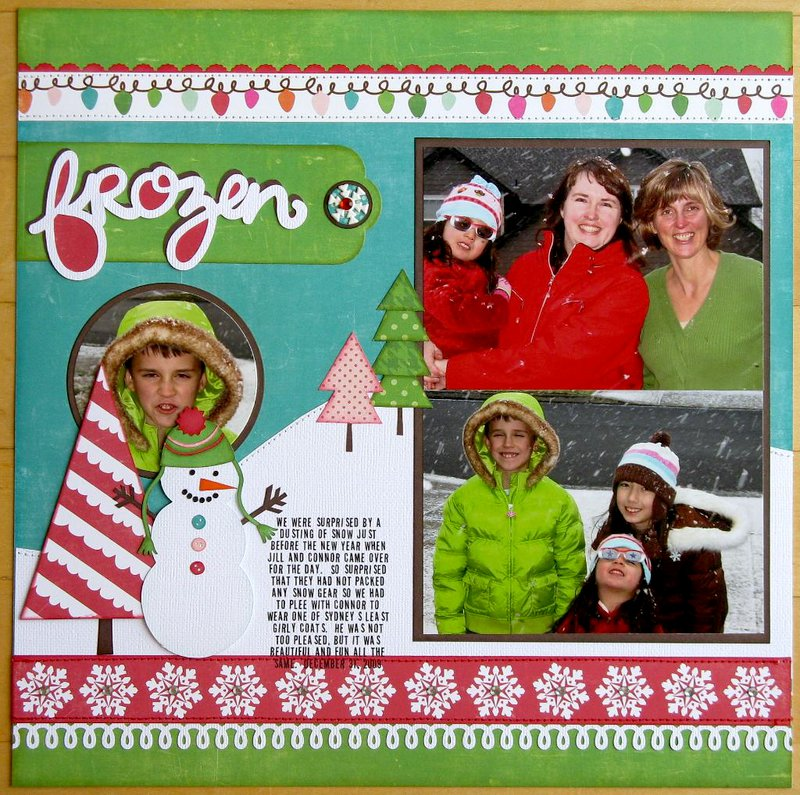 An Echo Park Holly Jolly Layout by Mendi Yoshikawa