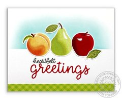 Sunny Studio Fruit Cocktail Heartfelt Greetings Card by Mendi Yoshikawa