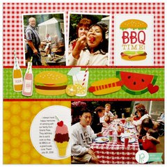 Pebbles Fun In The Sun BBQ Layout by Mendi Yoshikawa
