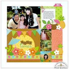 Doodlebug Fun In The Sun Layout by Mendi Yoshikawa