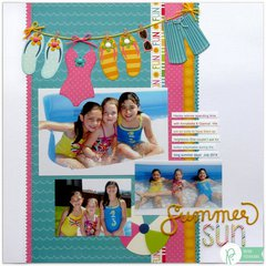 Pebbles Inc. Fun In The Sun Layout by Mendi Yoshikawa