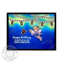 Sunny Studio Stamps Garden Fairy Card by Mendi Yoshikawa