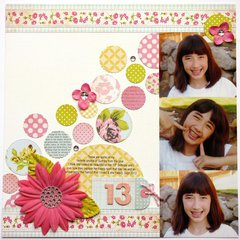 Girls Paperie 13th Birthday Layout by Mendi Yoshikawa