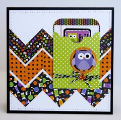 Doodlebug Halloween Parade Owl Card by Mendi Yoshikawa