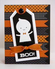 Doodlebug Halloween Parade Ghost Card by Mendi Yoshikawa