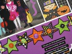 Doodlebug Halloween Parade Layout by Mendi Yoshikawa