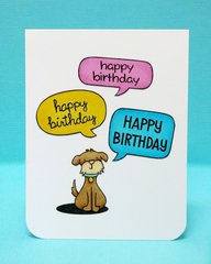 Lawn Fawn Dog Birthday Card by Mendi Yoshikawa