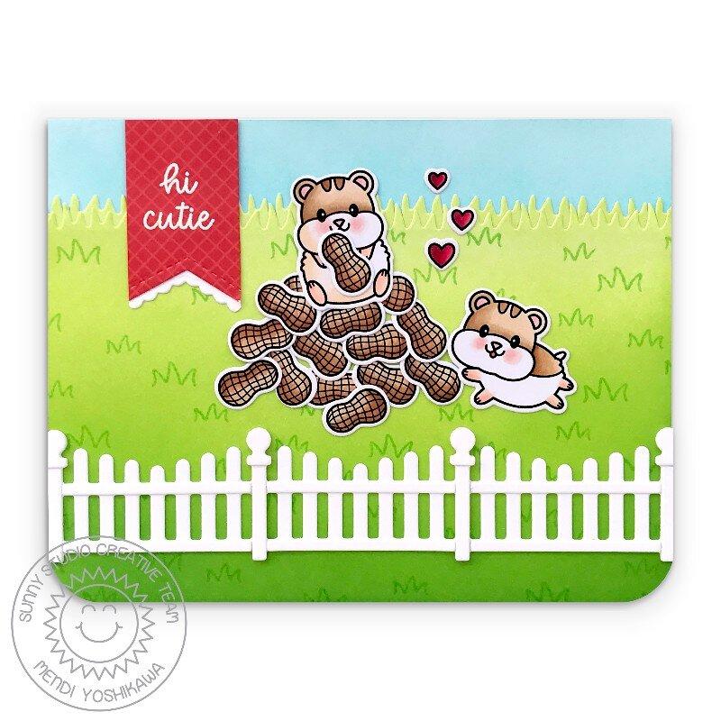 Sunny Studio Happy Hamsters Card by Mendi Yoshikawa