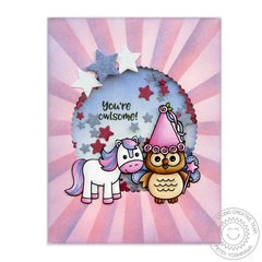 Sunny Studio Stamps Owl Fairy Princess Card by Mendi Yoshikawa