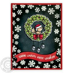 Sunny Studio Stamps Happy Owlidays Christmas Card by Mendi Yoshikawa
