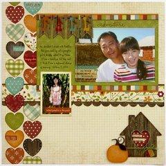 A Simple Stories Harvest Lane layout by Mendi Yoshikawa