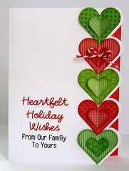 A Heart Themed Christmas Card by Mendi Yoshikawa