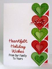 A Heart Themed Christmas Card by Mendi Yoshikawa