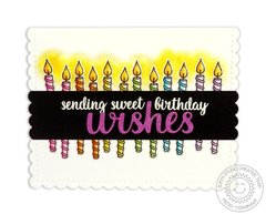 Sunny Studio Heartfelt Wishes Birthday Card by Mendi Yoshikawa