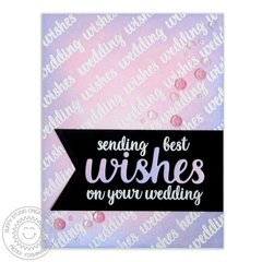 Sunny Studio Heartfelt Wishes Wedding Card by Mendi Yoshikawa