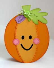 A Halloween Pumpkin Shaped Card by Mendi Yoshikawa