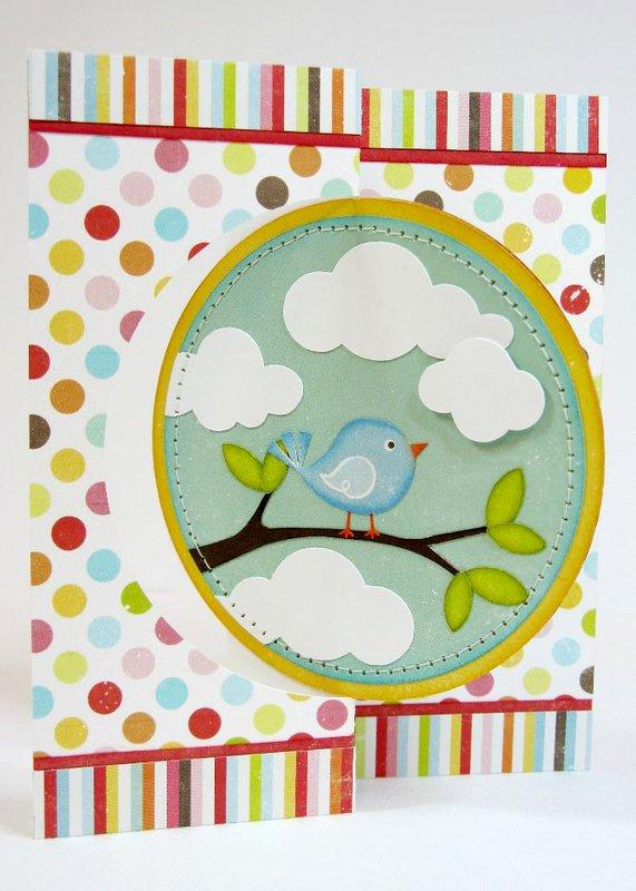 An Echo Park Hello Summer Flip Card by Mendi Yoshikawa