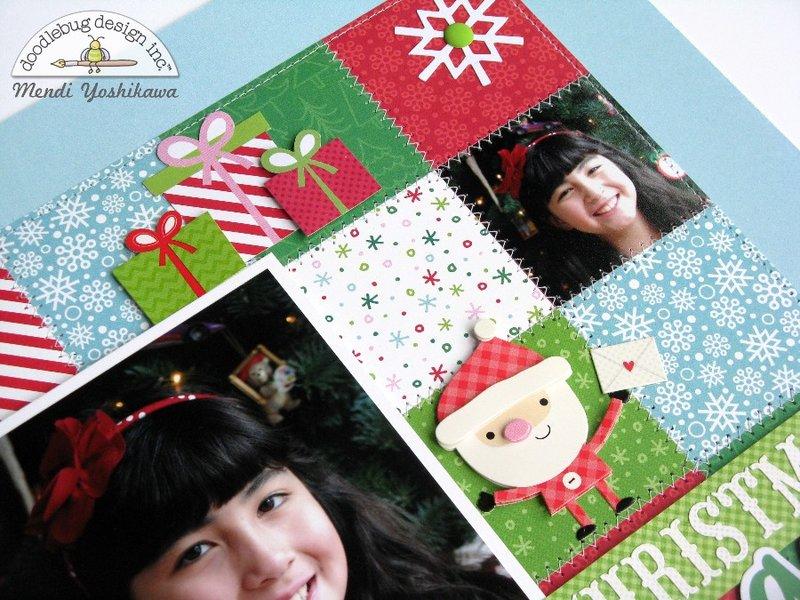 Doodlebug Here Comes Santa Claus Layout by Mendi Yoshikawa