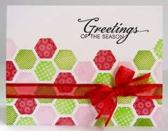 A Hexagon Themed Christmas Card by Mendi Yoshikawa