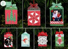 Pebbles Home For Christmas Gift Tags by Mendi Yoshikawa