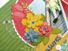 Pebbles Inc. Homegrown Tulip Layout by Mendi Yoshikawa